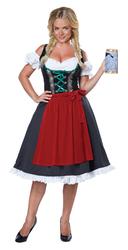 California Costumes Women's Oktoberfest Fraulein Costume Black/Red Small