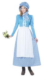 California Costumes Women's Pioneer Woman Costume Blue/White Medium