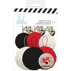 Embellishment Kit Pom Poms And Bells