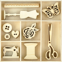 Themed Mini Wooden Flourishes Treasures