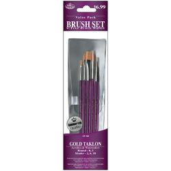 Royal Brush Gold Taklon Round Shader Value Pack Brush Set