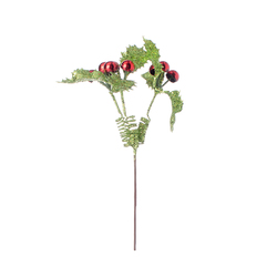 Christmas Floral Greenery With Berries Pick Holly 10.5 Inches