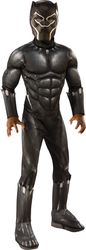 Boy'S Kids Muscle Chest Black Panther (Movie) Costume Medium