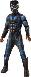 Boy'S Kids Deluxe Black Panther (Movie) Battle Suit Costume Medium