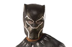 Men'S Black Panther 1/2 Adult Mask Multi Color  One Size