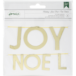 Holiday Details Foil Mi Word Garlands Gold Joy Noel