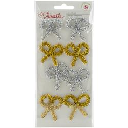 Shimelle Christmas Magic Tinsel Bows Gold Silver