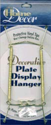 Decorative Plate Display Hanger Expandable 7.5 Inches To 9.5 Inches Gold Tone