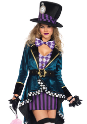 Leg Avenue Women'S Sexy Mad Hatter Costume Multi Large