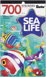 Sticker Book 9.5 X 6 Inches Sea Life