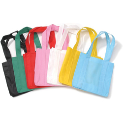 Non Woven Tote Bags Basic Colors Assorted 12.5 X 22 Inches
