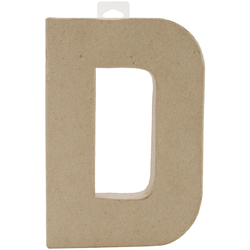 Paper Mache Letter D 8 X 5.5 Inches