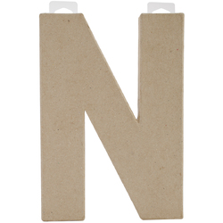 Paper Mache Letter N 8 X 5.5 Inches
