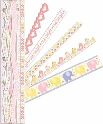 Itsy Bitsy Baby Girl Adhesive Borders