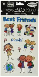 Me And My Big Ideas 4.5 X 6 Inches Minis Stickers Best Friends