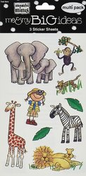 Me And My Big Ideas 4.5 X 6 Inches Minis Stickers Safari Animals