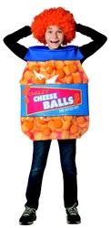 Rasta Imposta Cheeseballs Costume Funny Food Outfit Kids Child Fit Sizes 7-10 Orange Blue