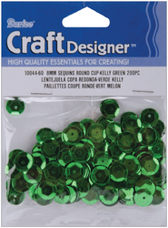 Cupped Sequins Kelly Green 8mm
