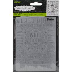 Embossing Folder Congrats Collage 4.25 X 5.75 Inches