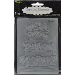 Embossing Folder Fancy Cake 4.25 X 5.75 Inches