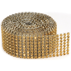 Bling On A Roll 3mm X 2Yards 8 Rows Gold