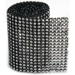 Bling On A Roll 3mm X 1Yards 18 Rows Black and Silver
