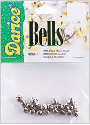 Jingle Bells Silver 0.25 Inch