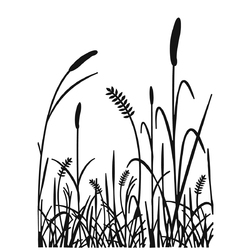 Embossing Folder Grass Silhouette 4.25 X 5.75 Inches