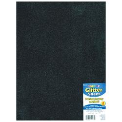 Glitter Foam Sheet Black 2mm thick 9 X 12 Inches
