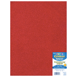 Glitter Foam Sheet Red 2mm thick 9 X 12 Inches
