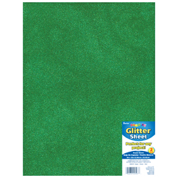 Glitter Foam Sheet Green 2mm thick 9 X 12 Inches