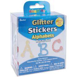 Glitter Alphabet Sticker Bucket Dot to Dot Font 1.05 oz
