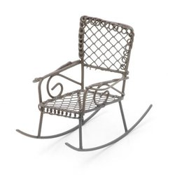 Metal Rocking Chair Rusty Color 2.5 X 2.5 X 3 Inches