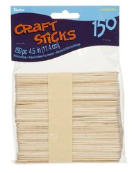Craft Wood Sticks 4.5 Inches Natural