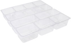 Protect and Store Scrapbook Box Tray Insert with Compartments 12 X 12 Inches