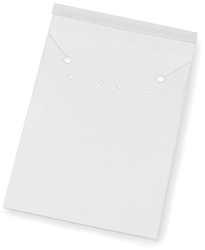 Jewelry Cards 3.13 X 2.06 Inches White PVC