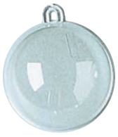 Hanging Ball Ornament 60mm Clear