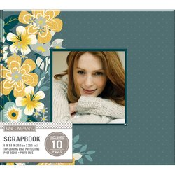 Patterned Post Bound Window Album 8X8 Inches Mod Floral