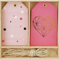 Lucky Dip Collection Gift Tag Box Geo Heart
