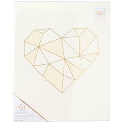 Color Reveal Collection Watercolor Panel 13 X 16 Geo Heart