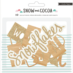 Snow And Cocoa Collection Die Cut Cardstock Pieces Phrases