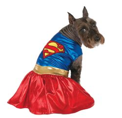 Classic Pet Supergirl Dress Costume Small