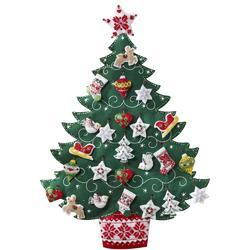 Category: Dropship Special Occasions, SKU #FC01865843, Title: Plaid Bucilla Advent Calendar Felt Applique Kit 17 X 24 inches Nordic Tree
