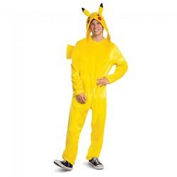 Unisex Pikachu Adult Deluxe Costume Yellow