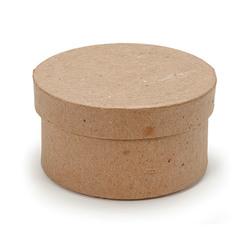 Paper Mache Mini Box Round 3 Inches