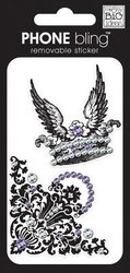 Me And My Big Ideas Phone Bling Removable Cell Phone Embellishment Crown and Flourish
