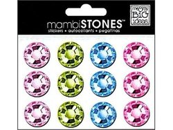 Me And My Big Ideas Stones Rhinestone Stickers 18mm Pastel Multi Light Purple And Light Green And Light Blue And Light Pink
