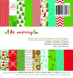Christmas 6 X 6 Paper Pad Be Merry