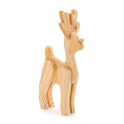 Wood Reindeer - Standing - Dimensional - Unfinished - 6 Inches