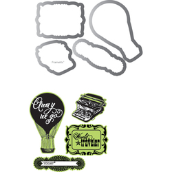 Sizzix Echo Park Framelits Die Cutting Template And Clear Acrylic Stamp Set Everyday Eclectic